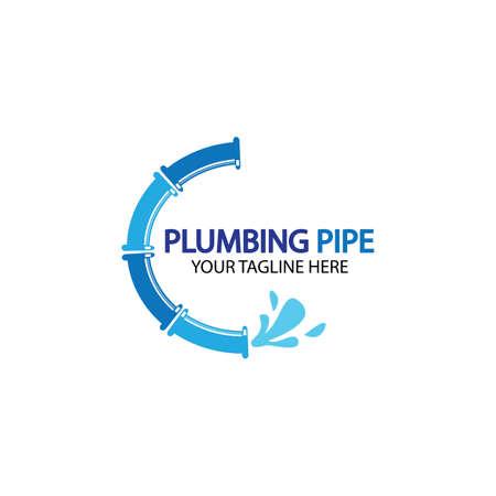 Pipe Plumbing logo vector Design Template,Plumbing logo vector design template. water pipe logo design.Leaking water logotype,Design Concept, Creative Symbol, Icon