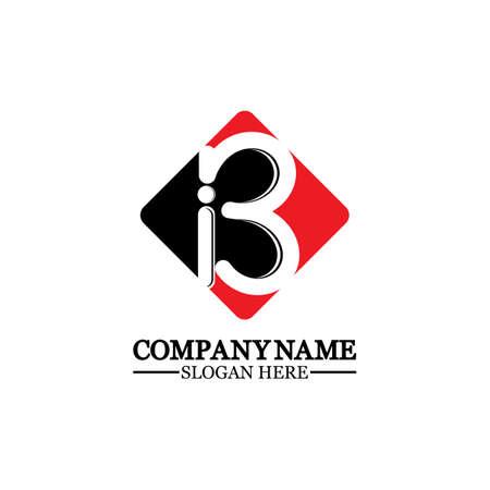 Abstract letter b logo vector. B logo symbol icon design template.