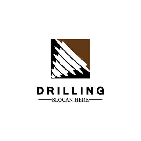 Drill logo icon design template ,Logo for mining / business / bore / drilling business / oil drilling. Other companies. Vector illustration.