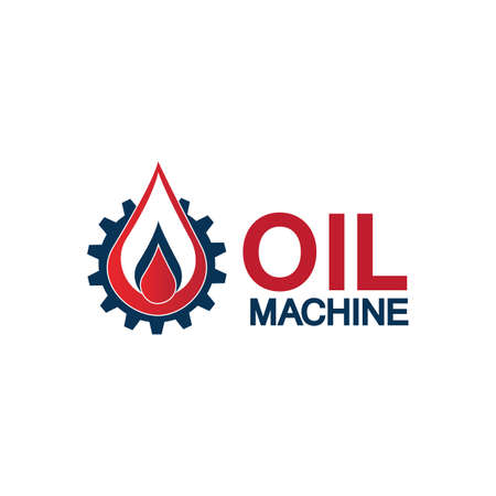 Oil industry vector design template,Oil Industry logo designs concept vector, Oil Gear Machine logo template symbol