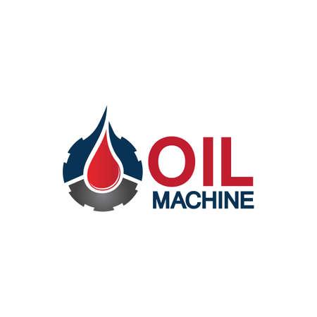 Oil industry vector design template,Oil Industry logo designs concept vector, Oil Gear Machine logo template symbol