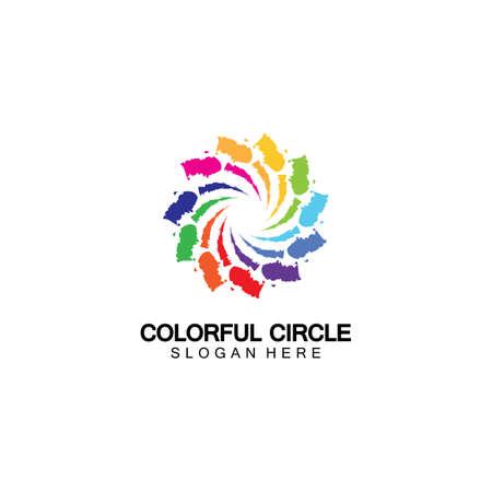 Abstract Colorful circle Logo design vector template. Modern template design. Vector icon illustration,Modern Colorful Circle Bussines and Media Logo 일러스트