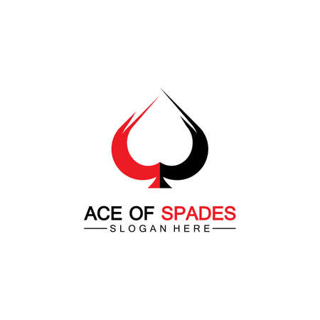 Ace of Spades icon logo design. Flat related icon for web and mobile applications. It can be used as - logo, pictogram, icon, infographic element. Illustration. Logo