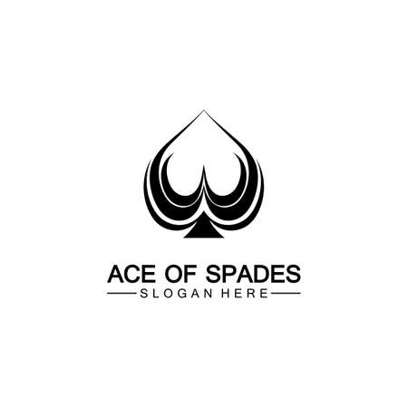 Ace of Spades icon logo design. Flat related icon for web and mobile applications. It can be used as - logo, pictogram, icon, infographic element. Illustration.