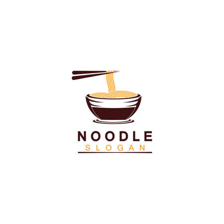 Noodle logo Vector Icon llustration design template.Suitable for any business related to ramen, noodles, fast food restaurants, Korean food, Japanese food or any other business on a white background.