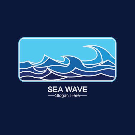 Sea Wave  Template Design Vector, Emblem, Design Concept, Creative Symbol, Icon Ilustração