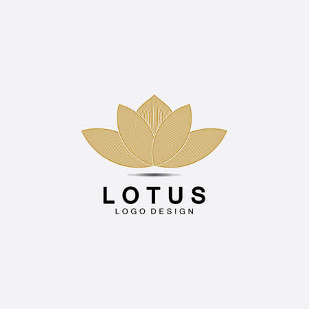 Vector lotus flowers design for spa, yoga class, hotel and resort