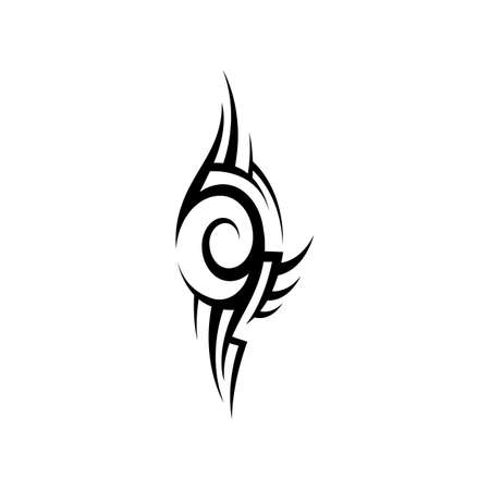tribal pattern tattoo vector art design,tattoo tribal abstract sleeve, sketch art design isolated on white background,Simple logo.