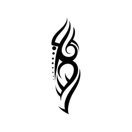 tribal pattern tattoo vector art design,tattoo tribal abstract sleeve, sketch art design isolated on white background,Simple logo. Vectores