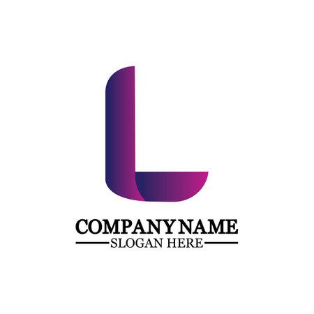Letter L logo icon design template elements