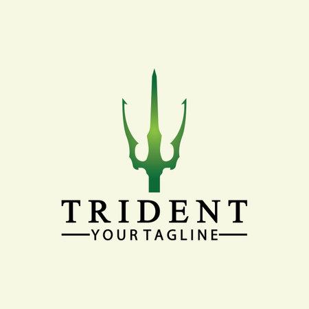 Vintage Trident Spear of Poseidon Neptune God Triton King design