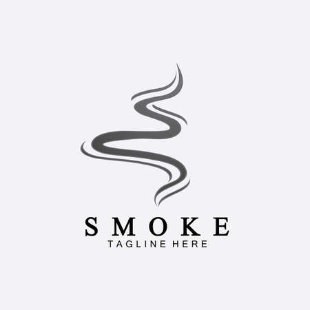 Smoke steam icon logo illustration isolated on white background ,Aroma vaporize icons. Иллюстрация