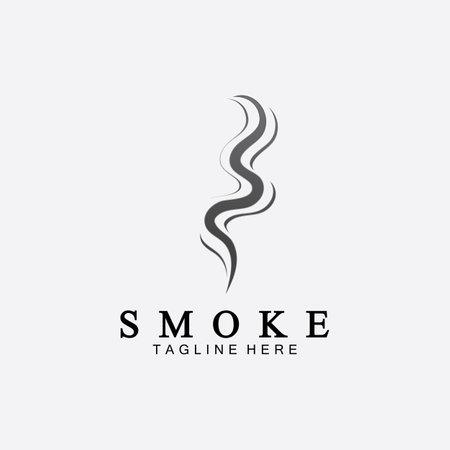 Smoke steam icon logo illustration isolated on white background, Aroma vaporize icons.