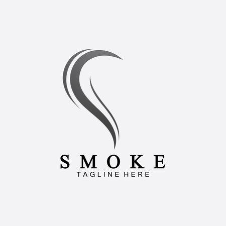 Smoke steam icon logo illustration isolated on white background,Aroma vaporize icons.