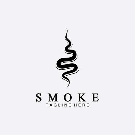 Smoke steam icon logo illustration isolated on white background,Aroma vaporize icons. Smells vector line icon, hot aroma, stink or cooking steam symbols, smelling or vapor