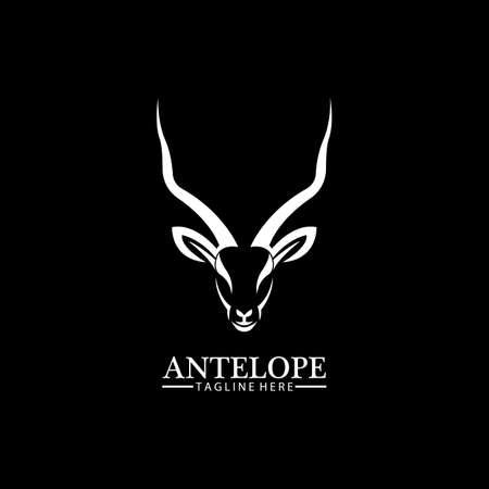 Antelope head logo vector icon illustration design template Logos