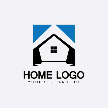 Home logo icon vector illustration design template.Home and house logo design vector, logo , architecture and building, design property , stay at home estate Business logo.