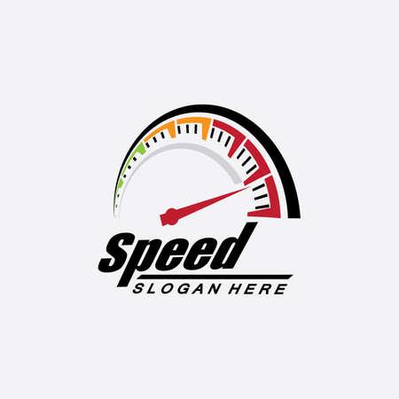 Speed logo design, silhouette speedometer symbol icon vector,speed Auto car Logo Template vector illustration icon design