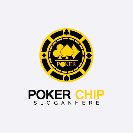 Casino chip icon, poker chip vector icon logo,Casino chips for poker or roulette.Vector illustration isolated on white background.