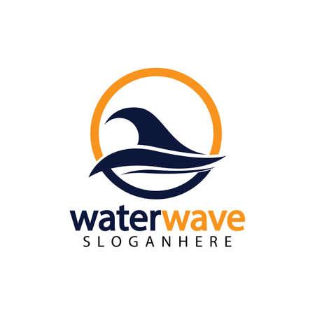 water wave logo design template 일러스트