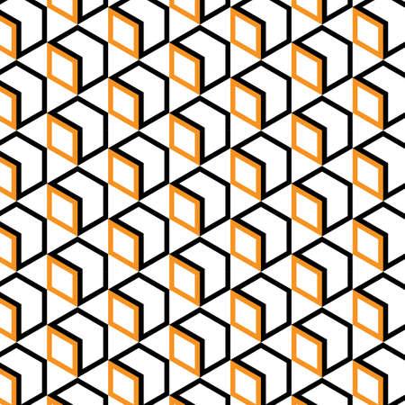 Geometric Hexagon seamless pattern vector background