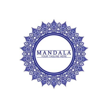 Circle pattern petal Flower Mandala Vector logo template illustration. Colorful template for spiritual retreat or yoga studio,Ornamental business cards,vintage luxury, ornamental decoration