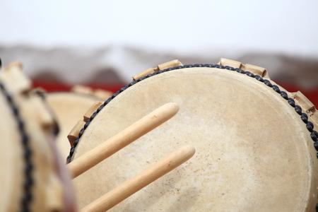 Japanese Taiko drumming 写真素材