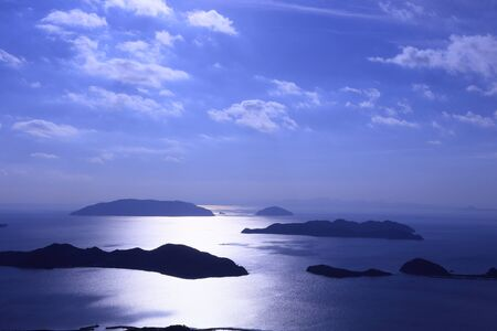 Seto Inland Sea seen in Kaminoseki Stok Fotoğraf