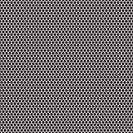 black and white seamless pattern with circle dot Vector Illustratie