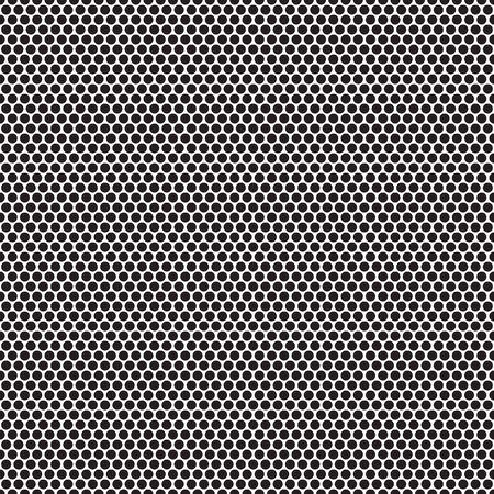 modello senza cuciture in bianco e nero con punto cerchio Vettoriali