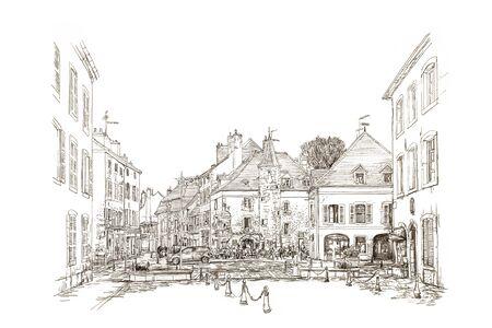 plaza: France born Town Center Plaza