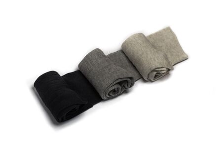 basic: fashion  socks  simple  style  gray  basic  black  white Stock Photo