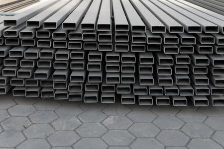 the job site: Costruzione di cantiere di materiali da costruzione in ferro