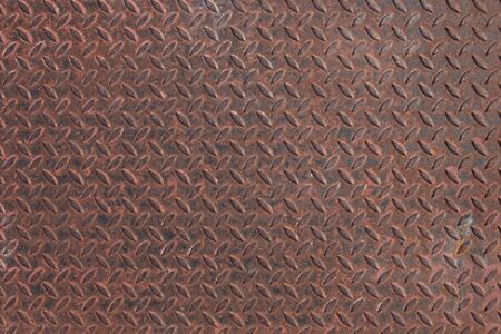 diamond plate: Background of rust metal diamond plate in silver color.