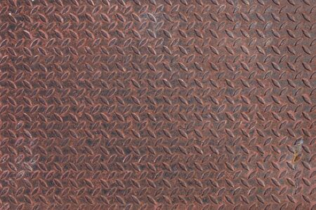 diamondplate: Old rusty metal plate to prevent slipping