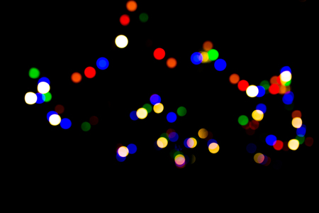 neon lights: Decorative neon lights in soft focus, bokeh