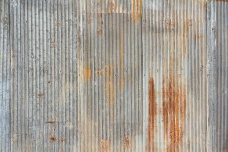 Rezavé a zvětralý vyhlížející vlnitého plechu. Reklamní fotografie