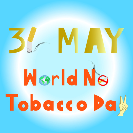 lesions: World No Tobacco Day. 31 MAY all year.. PLEASE QUIT! Illustration
