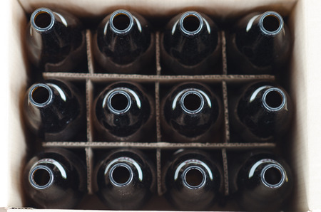 dozen: Dozen of empty bottles in a carton
