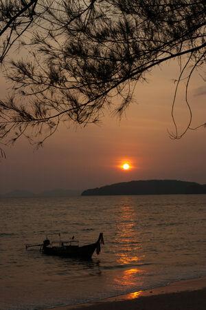 nang: Sun set at Ao Nang