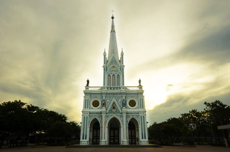 neo gothic: The lady cathedral in Samudsongkram, Thailand