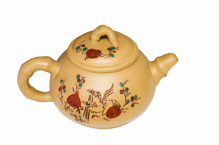chinese tea pot: Traditional Chinese tea pot with isolated background