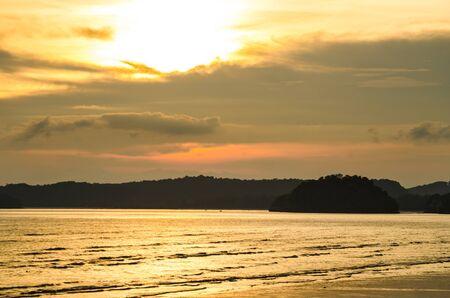 sun set: Sun set at a beach in Southern Thailand