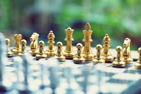 Chess board game, business competitive concept, strategy concept
