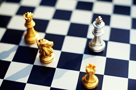 Schachbrettspiel, Geschäftskonzept, Kopierraum Standard-Bild