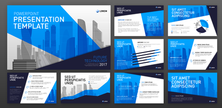 Business presentation templates. Use for ppt layout, presentation background, brochure design, website slider, corporate report. Ilustração