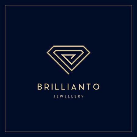 Jewelry company for corporate identity. Jewelry icon.
