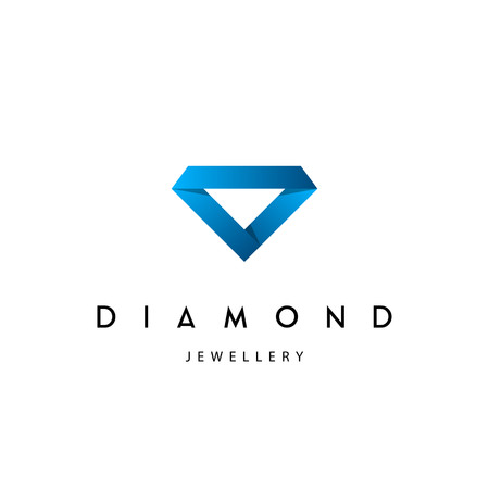 Jewellery company . Jewelry icon. Diamond vector illustration.