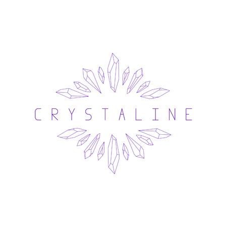 Jewelry icon. Crystals  illustration.