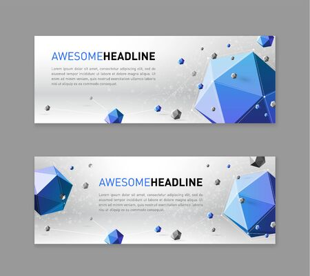 Abstract    web slideshow template with low polygonal solids.